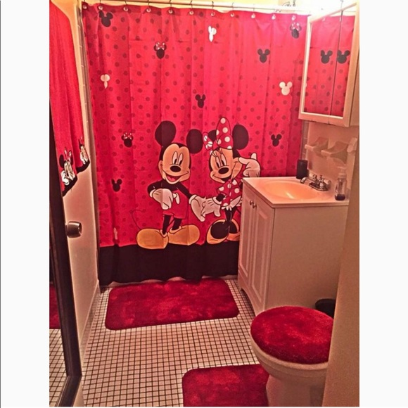 mickey minnie bathroom set